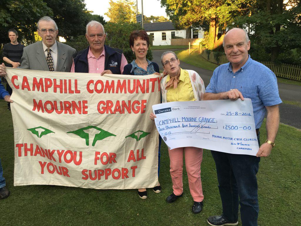 Mourne Grange cheque