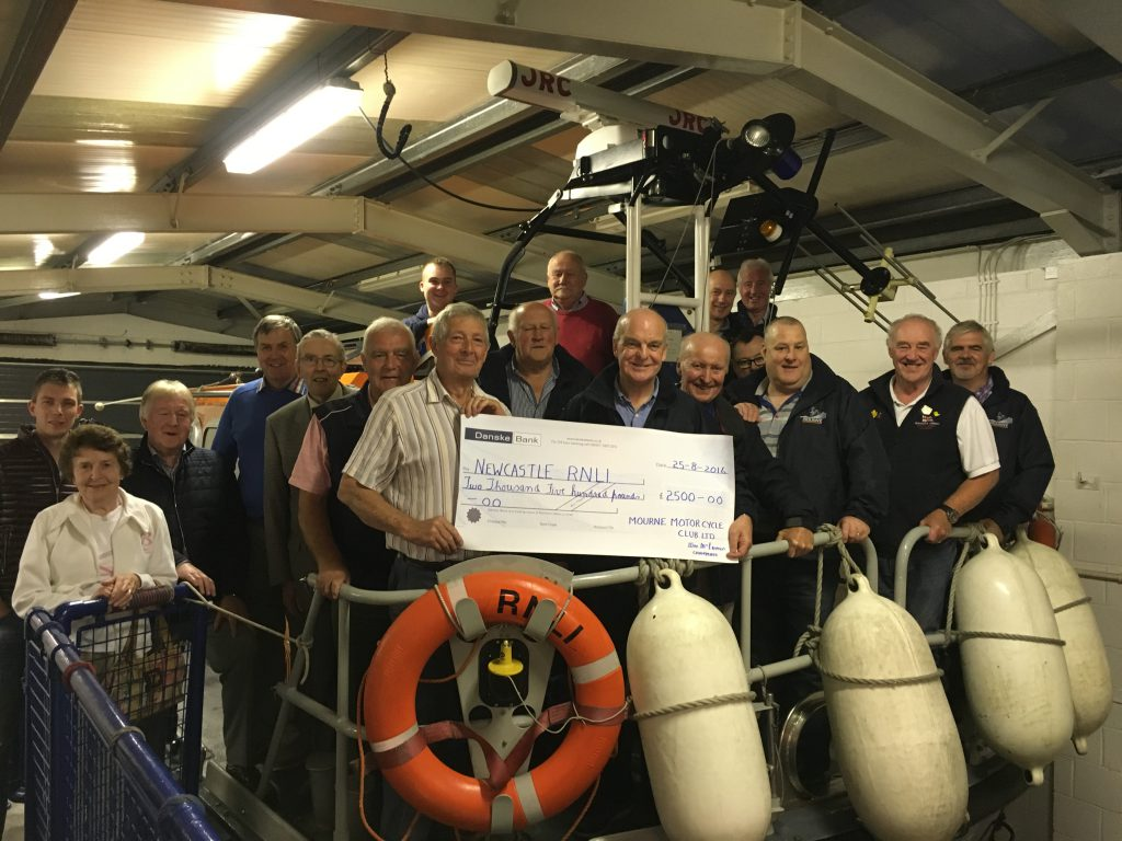Newcastle RNLI cheque